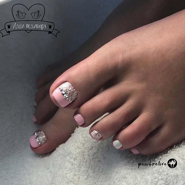 Light Pink Nails Acrylic Sparkle