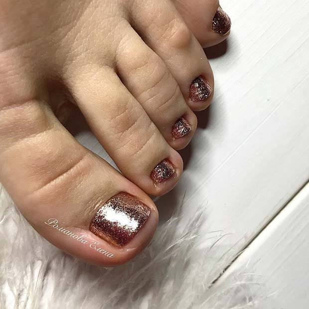 10 Elegant Rose Gold Nail Designs: 21 Elegant Toe Nail Designs For Spring And Summer