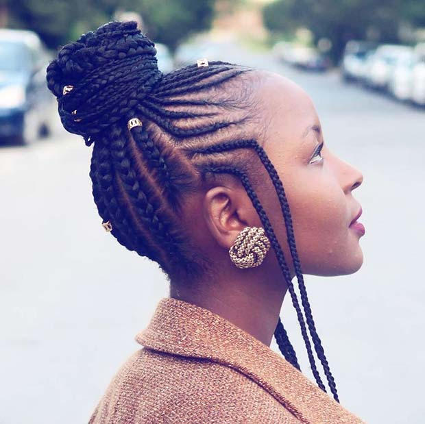 45 Best Ways To Rock Feed In Braids This Season Page 2