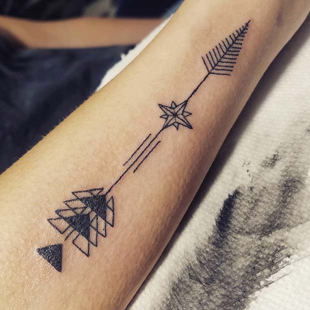 23 Inspiring Arrow Tattoo Ideas for Women
