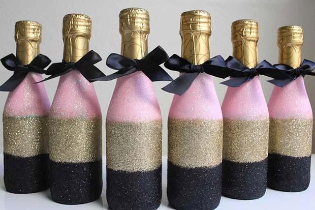 Glam Mini Champagne Bridal Shower Favor