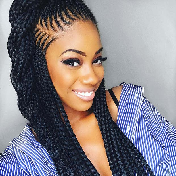 25 Best Ways To Rock Feed In Braids This Season Page 2 Of 2 Stayglam