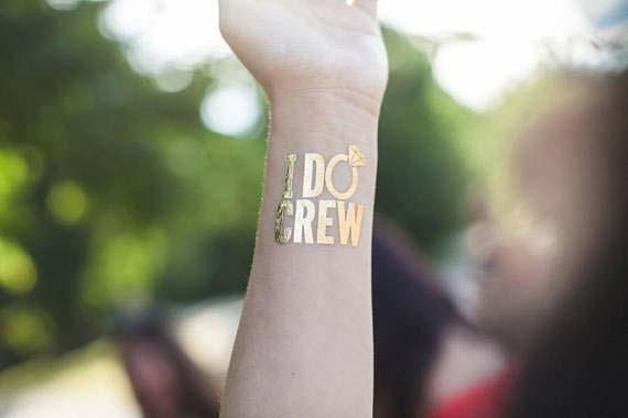 I Do Crew Temporary Tattoo Idea for Bridal Shower