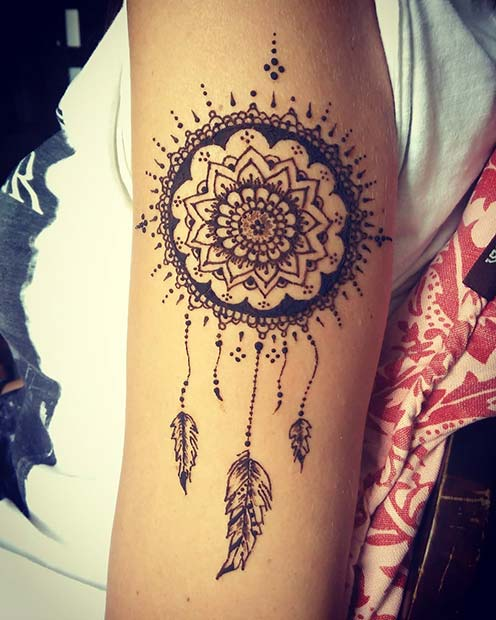 Dream Catcher Henna Tattoo