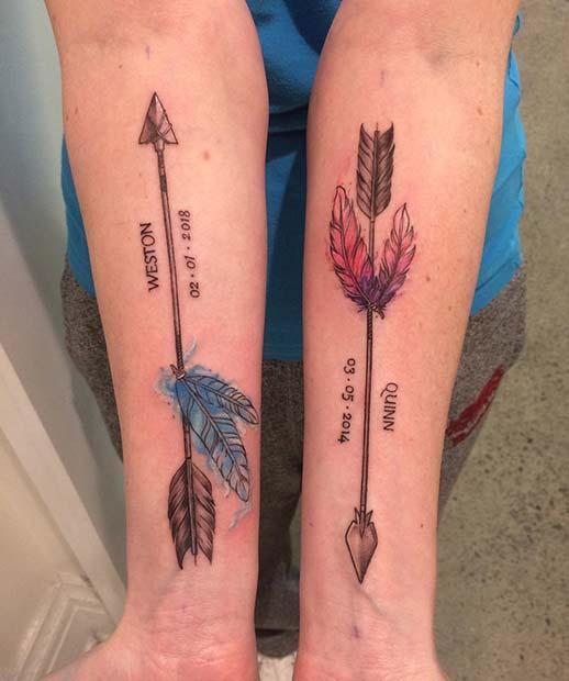 Personalized Arrow Arm Tattoos