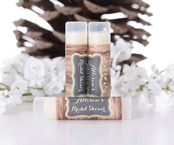 Personalized Lip Balms Bridal Shower Favor