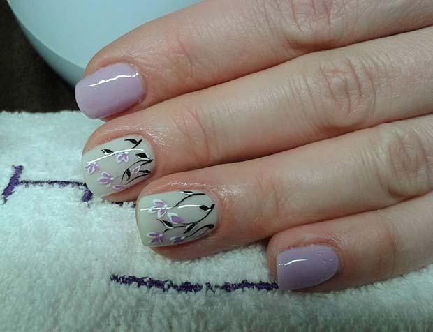 Pretty Floral Nail Art