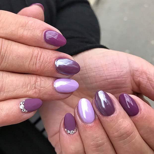 Pretty Purple Spring Nails
