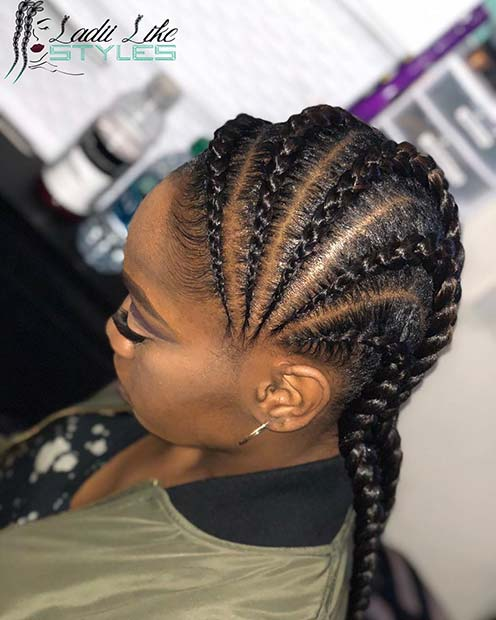 effaf22f6b4628 45 Best Ways to Rock Feed In Braids this Season | Page 2 of 4 | StayGlam