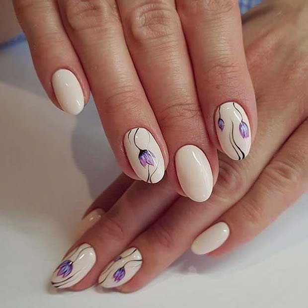 Spring Nail Art: 43 Best Spring Nail Art Designs To Copy In 2019