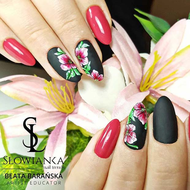 Stylish Floral Nails for Spring