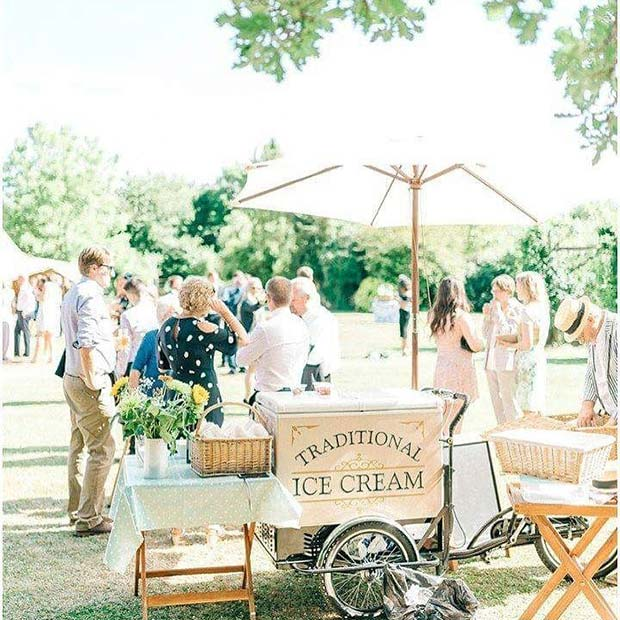 Ice Cream Stand Idea for Vintage Wedding