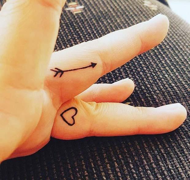 Arrow Tattoo Finger: 43 Inspiring Arrow Tattoo Ideas For Women