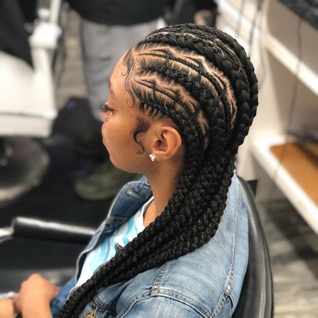 Superior Trendy Feed In Cornrow Braids