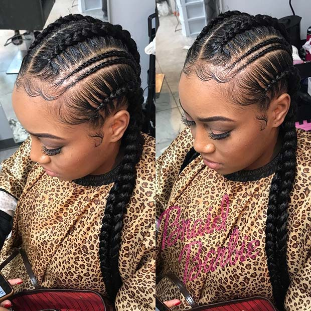 25 Best Ways To Rock Feed In Braids This Season Stayglam