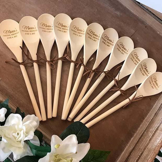 Unique Personalized Spoons as Bridal Shower Favor