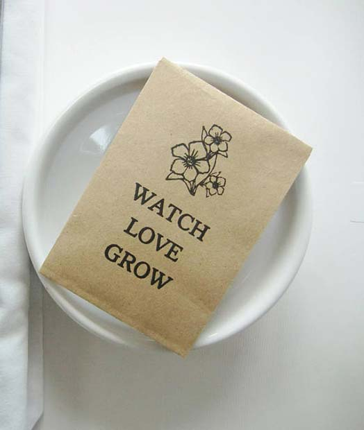 Watch Love Grow Seeds for Bridal Shower