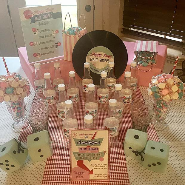 vintage 1950s bridal shower theme