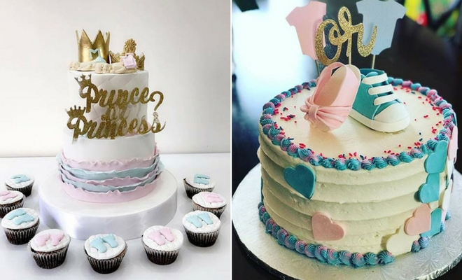 21 cute and fun gender reveal cake ideas stayglam