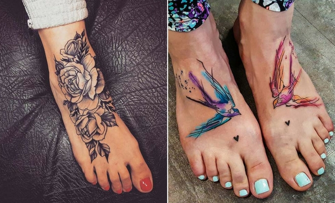 055280983 45 Awesome Foot Tattoos for Women | StayGlam
