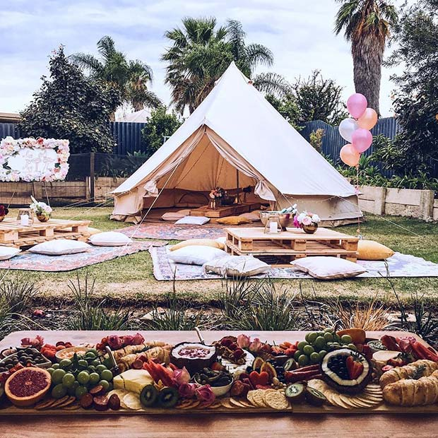 boho outdoor bridal shower theme