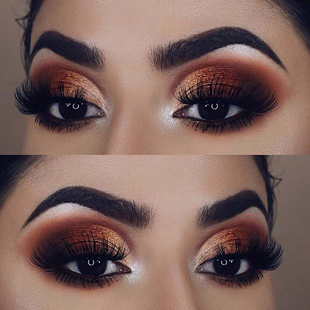 Bronze Eye Makeup Idea