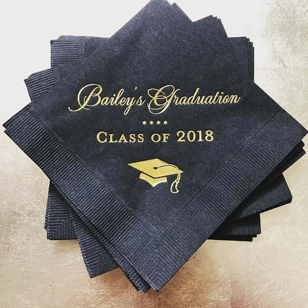 Creative and Unique Graduation Napkins