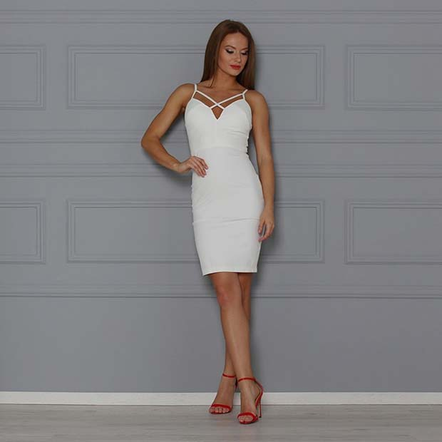 Little White Dress Outfit Idea