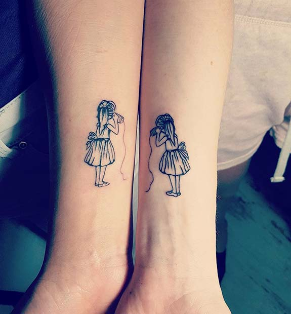 23 Cute Best Friend Tattoos for You and Your BFF | StayGlam
