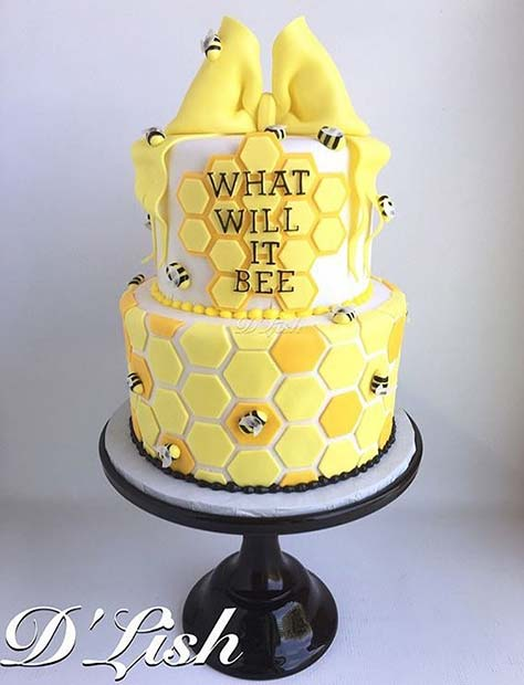 Cute What Will It Bee Gender Reveal Cake