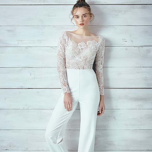 Delicate White Lace Top and Pants