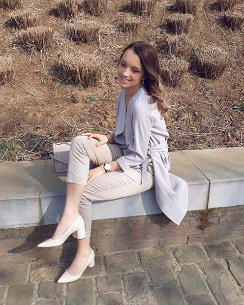 Elegant Neutral Spring Work Outfit
