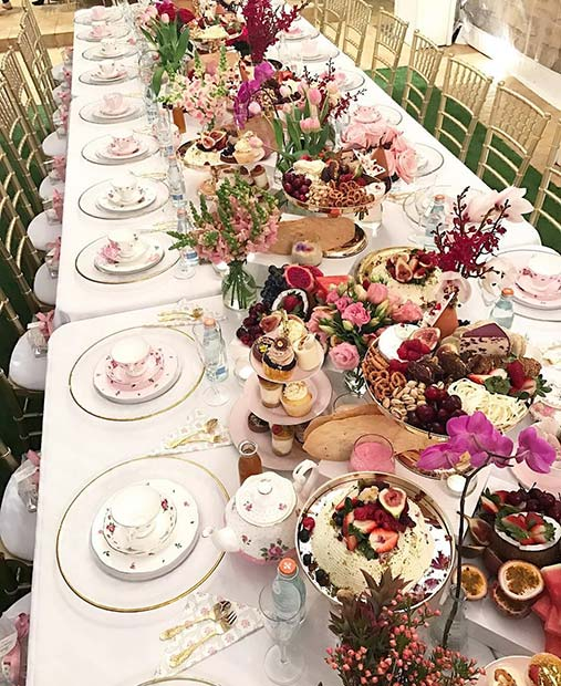 Elegant Tea Party Bridal Shower Theme