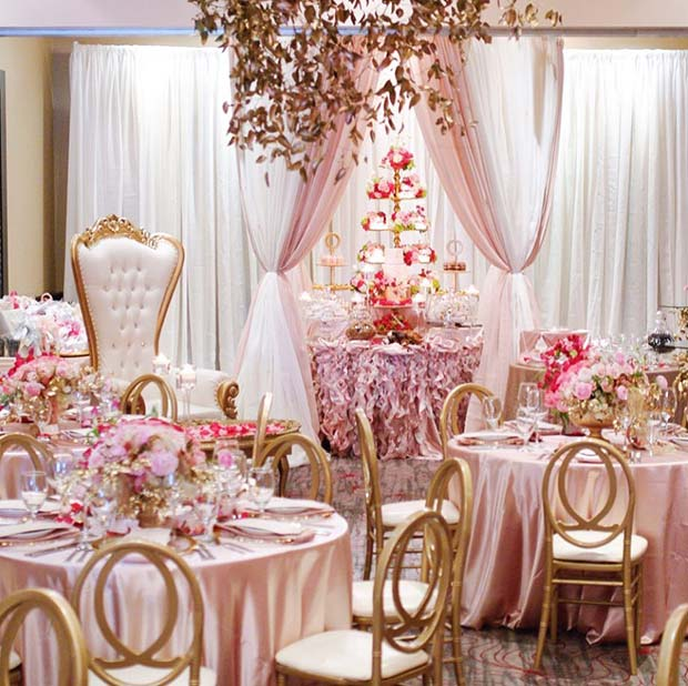 glamorous pink bridal shower theme