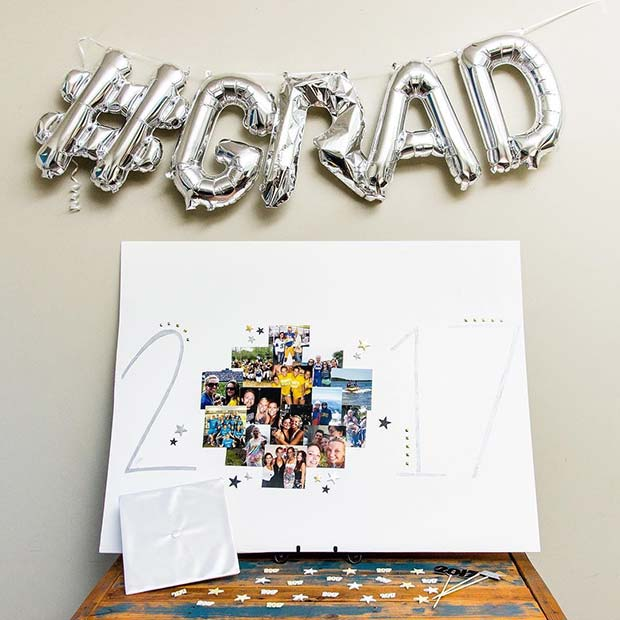 Grad Balloons and Photos Idea