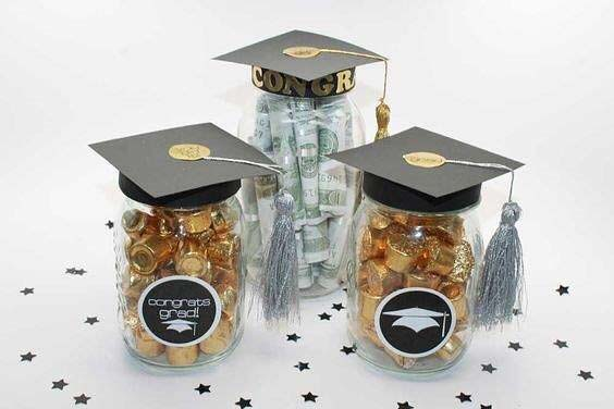 Graduation Cap Jars