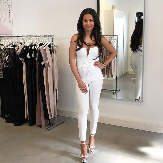 All White Party Jumpsuit Idea