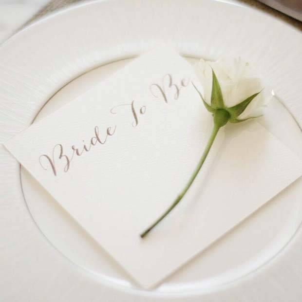 Simple and Romantic Bridal Shower Theme