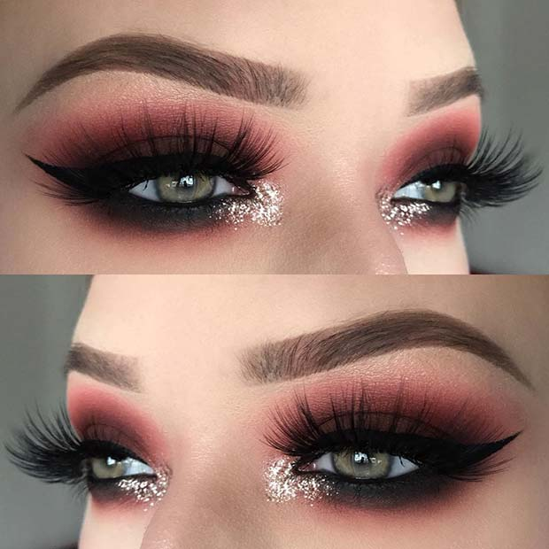 Smokey Eyes with Inner Corner Sparkle