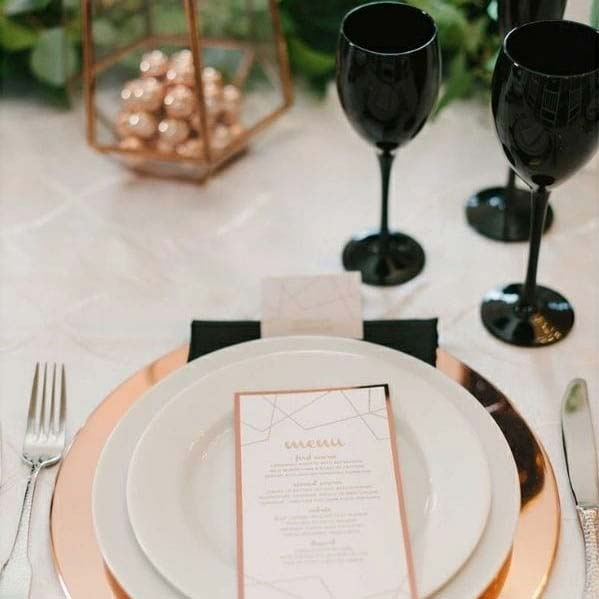 Stylish Bridal Shower Idea with Rose Gold