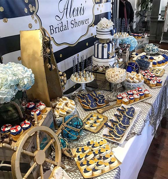 Stylish Nautical Bridal Shower Theme