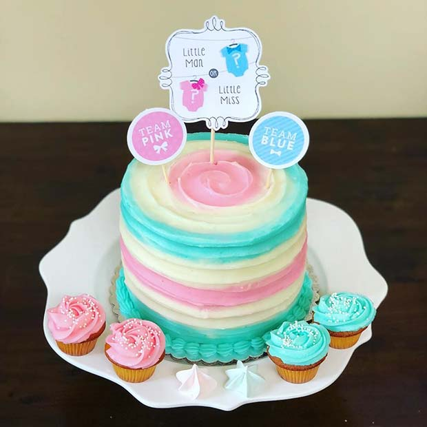 41 Cute And Fun Gender Reveal Cake Ideas Stayglam Page 2