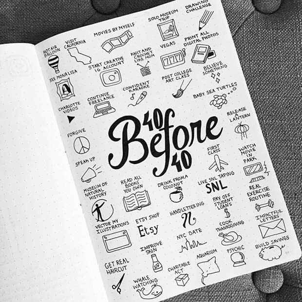 Things To Do Bullet Journal Spread Idea