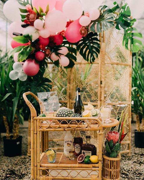 Tropical Bridal Shower Theme