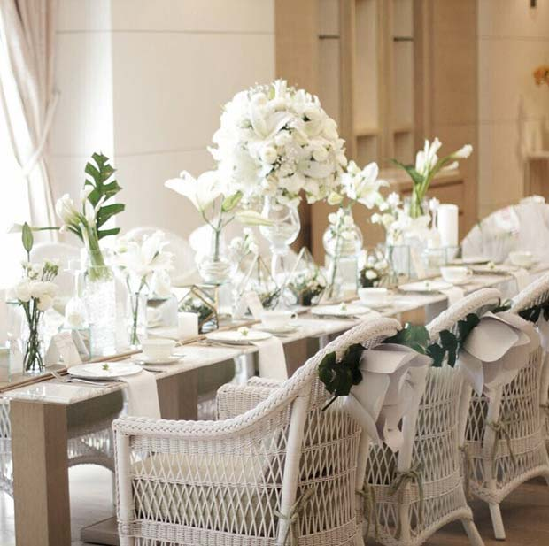 All White Bridal Shower Theme