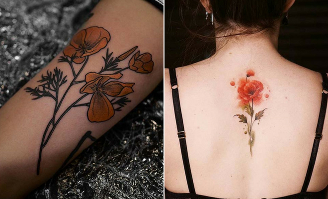 21 Trendy Poppy Tattoo Ideas for Women