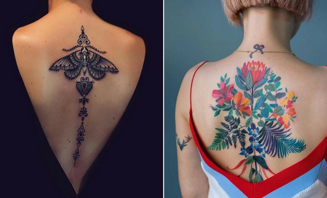 Tattoo Ideas On Back: 23 Cool Back Tattoos & Ideas For Women