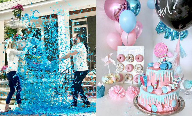 Gender Reveal Ideas With Paint