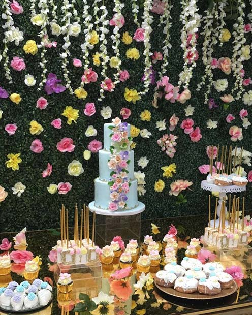 Beautiful Floral Baby Shower Theme