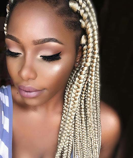23 Cool Blonde Box Braids Hairstyles To Try Page 2 Of 2 Stayglam